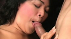 Beautiful slant-eyed girl Keymore Kash gets hairy pussy screwed